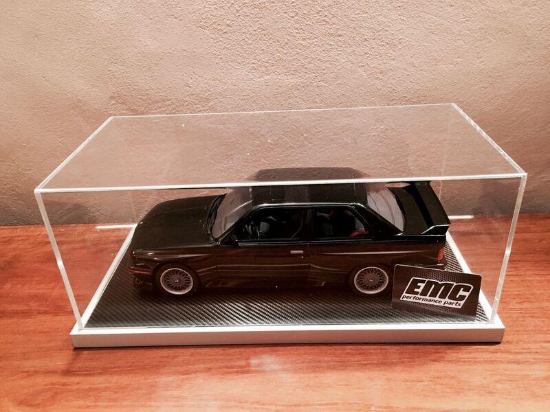 Vitrina de alta calidad con la placa base de cuero para automóviles modelo en escala 1:18