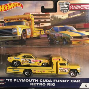 Transporter Set #4 Retro Rig – '72 Plymouth Cuda Funny Car