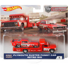 Transporter Set #5 Sakura Sprinter – Plymouth Duster Funny Car